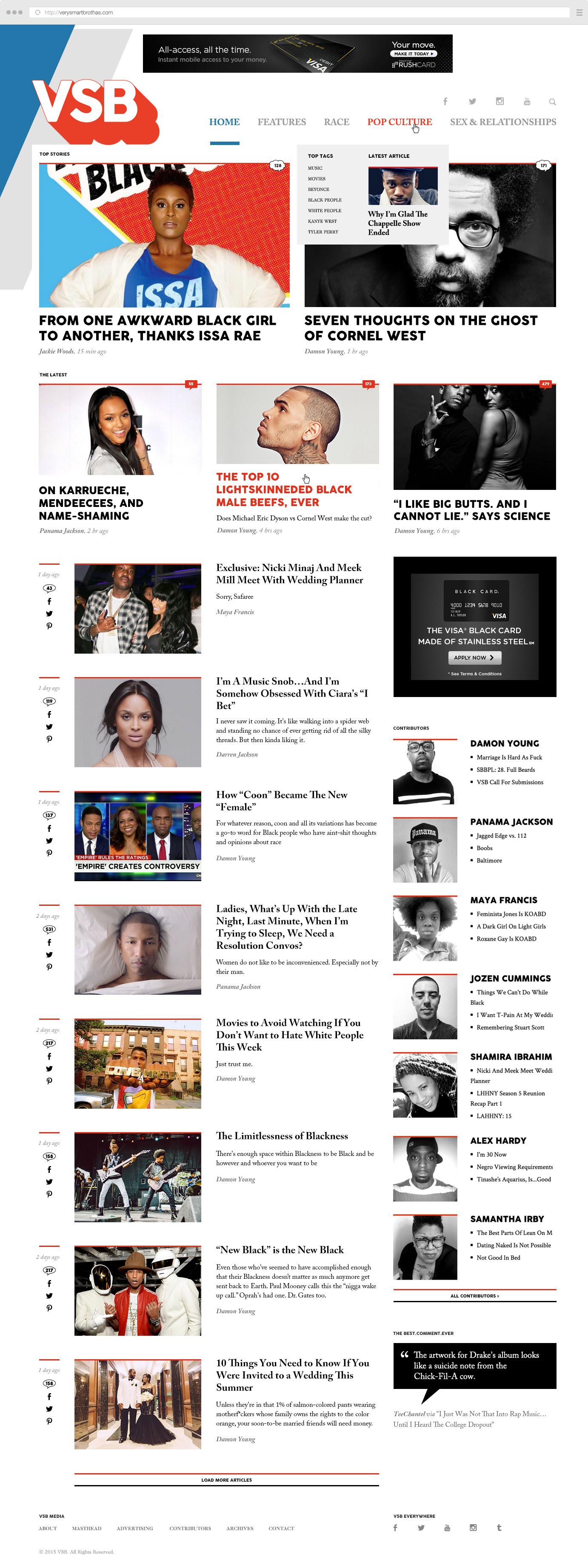 VSB homepage