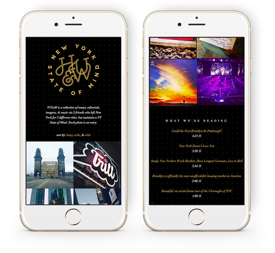 nystateofmind homepage (mobile)