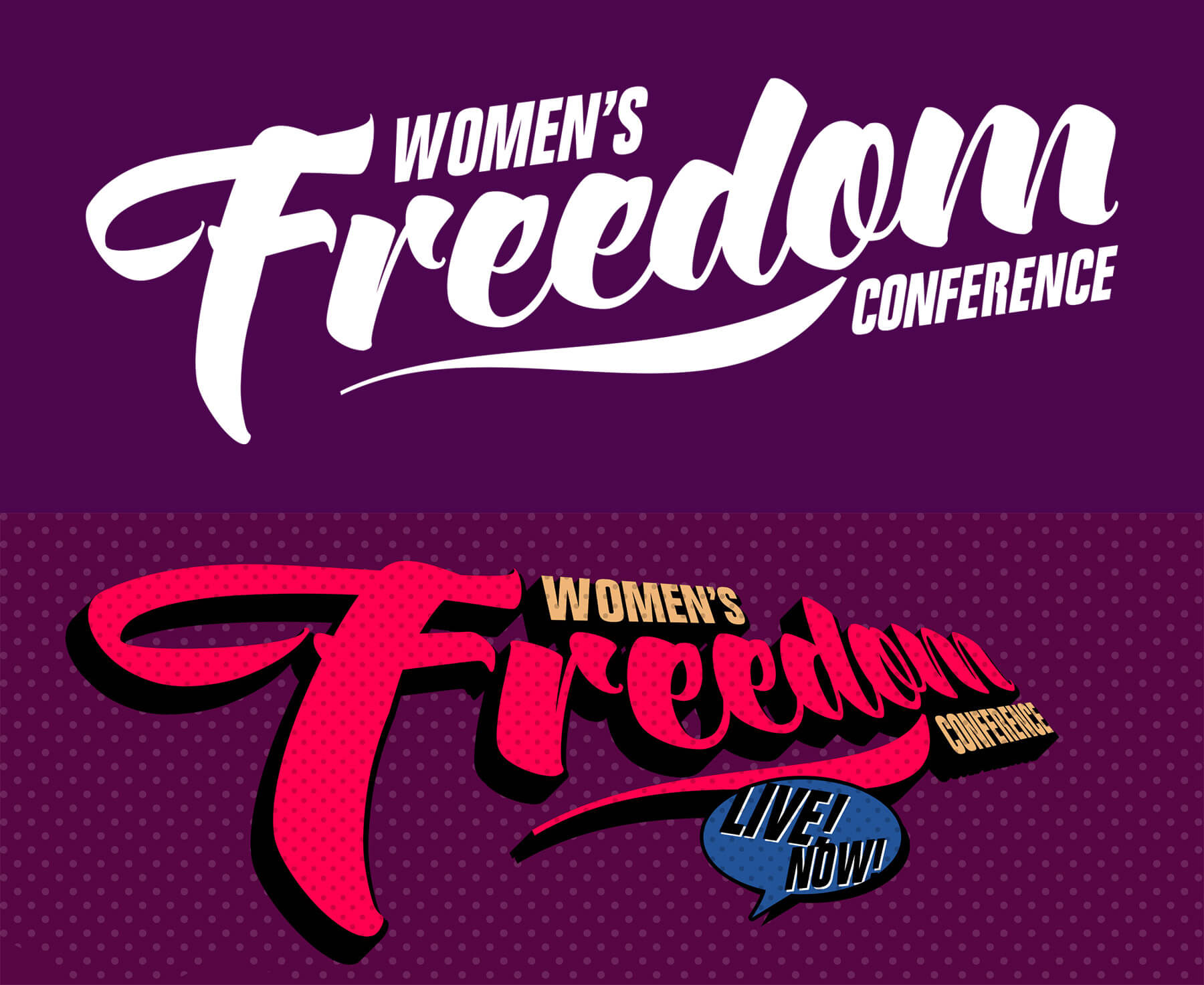 Women's Freedom Conference logos